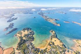 vue aérienne Golfe du Morbihan - Presqu'île de Rhuys